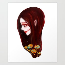 OVERLY ATTACHED GIRLFRIEND Art Print