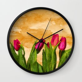 Tulip Wall Clock