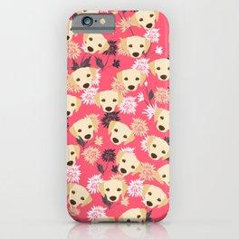 Cute Yellow Labrador Dog iPhone Case