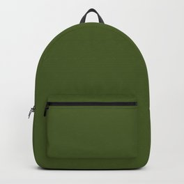 Dark Moss Green - solid color Backpack