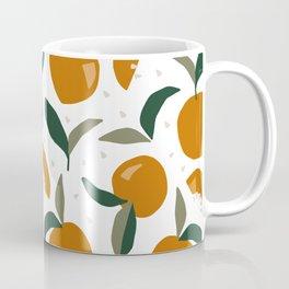 Mid Century Modern Abstract Oranges Coffee Mug
