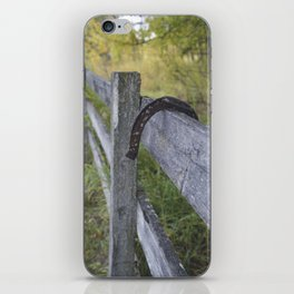 Horse Shoe Over the Fence iPhone Skin