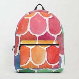 Watecolor Rainbow Mermaid Scales Backpack