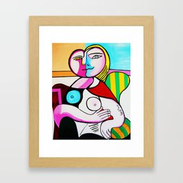 LOPSIDED Framed Art Print