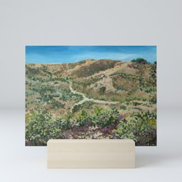 Boise foothills painting Mini Art Print