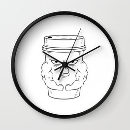 Funny Coffee Barista Store Manager Roaster Wall Clock