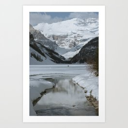 Lake Louise Mountain Reflection Art Print