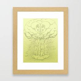 M.A.D. (green) Framed Art Print