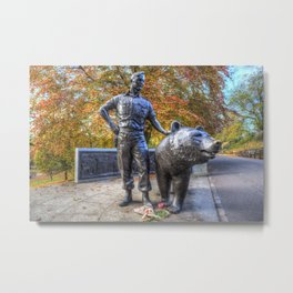 Wojtek The Soldier Bear Memorial Edinburgh Metal Print