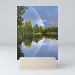 Rainbows: The gift from heaven to us all Mini Art Print