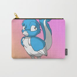 Light Blue/Color-Or-Paint-Your-Own Reptilian Bird 4 #ArtofGaneneK #Animal Carry-All Pouch