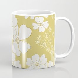 White thoughts on gold Coffee Mug