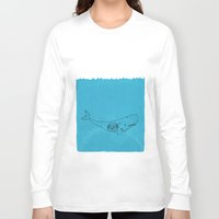 the whale Long Sleeve T-shirts featuring Whale by David Penela