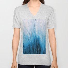 Feather Grass Blue Unisex V-Neck