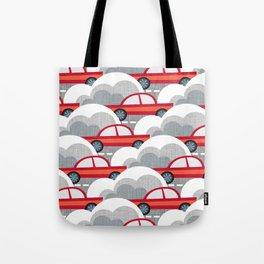 Papercut Cars Tote Bag