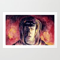 spock Art Prints featuring Spock  by margaw