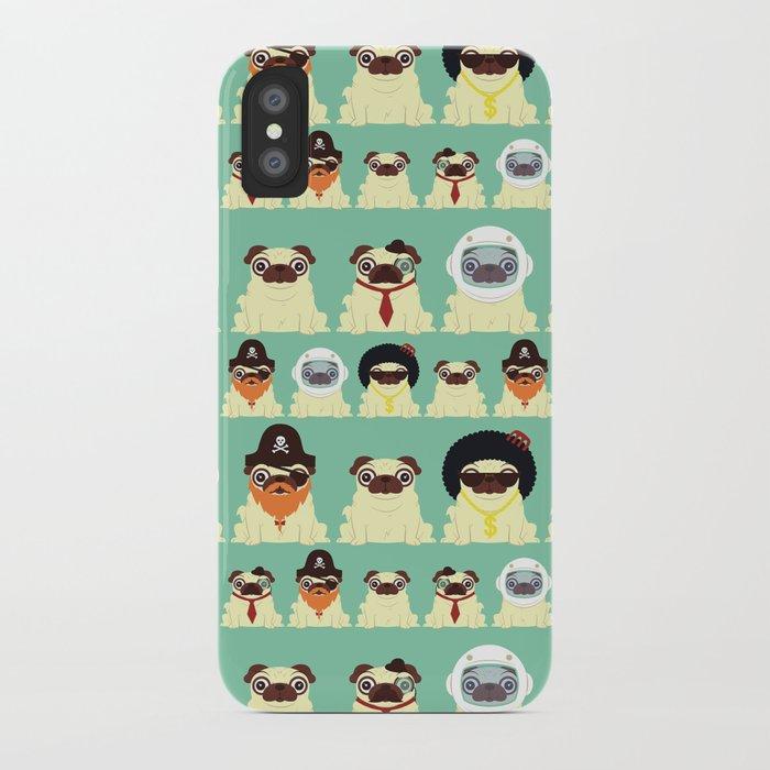 Pug pattern iPhone Case