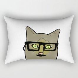 Professor Mustache Cat Rectangular Pillow