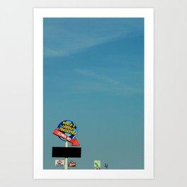 Gas city Art Print