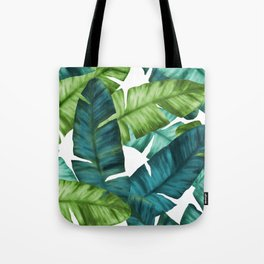 Tropical Banana Leaves Unique Pattern Tote Bag