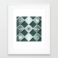 pyramid Framed Art Prints featuring Pyramid by MJ Mor