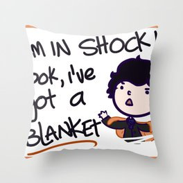 I'm in shock! Throw Pillow