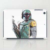 boba fett iPad Cases featuring Boba Fett by lunaevayg