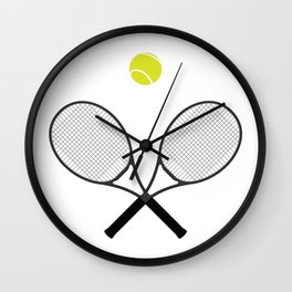 Tennis Racket And Ball 2 Wall Clock