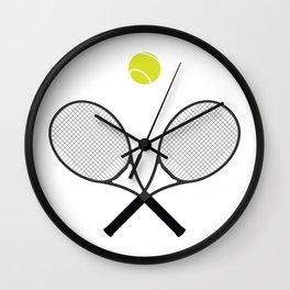 Tennis Racket And Ball 2 Wall Clock