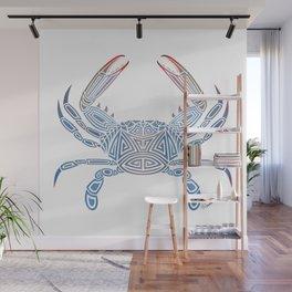 Tribal Blue Crab Wall Mural