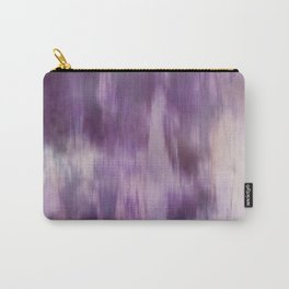 Purple Fusion Illustration Digital Camo Watercolor Blend Fluid Art Carry-All Pouch