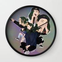 jenna kutcher Wall Clocks featuring Jenna by timetoewill