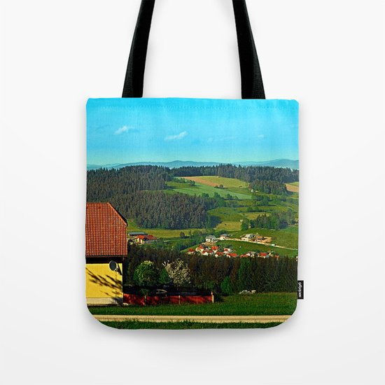 Small farm with built-in panoramic view Tote Bag