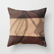 Me & bike Throw Pillow