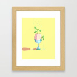 Egg Planter Framed Art Print