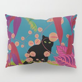 Black Cat In The Outside World Pillow Sham