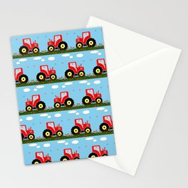 Toy tractor pattern Stationery Cards