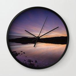 Pahranagat National Wildlife Refuge Sunset #2 Wall Clock