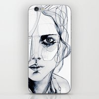 sale iPhone & iPod Skins featuring Sketch V by Holly Sharpe