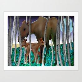 mis moose Art Print