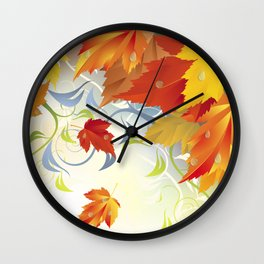 Autumn Leaves 5 Wall Clock