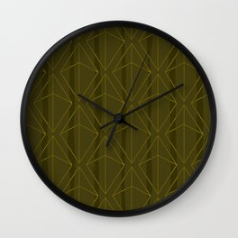 GREEN GEOMETRIC DIAMONDS Wall Clock