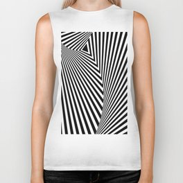 abstract striped background Biker Tank
