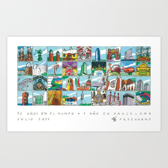 Barcelona anno 1 Art Print