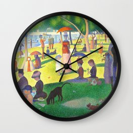 Georges Seurat A Sunday On La Grande Jatte Wall Clock