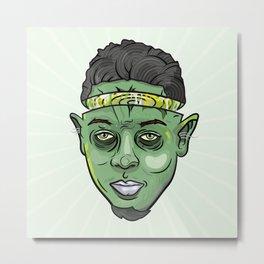 Kendrick Lamar Yoda Metal Print