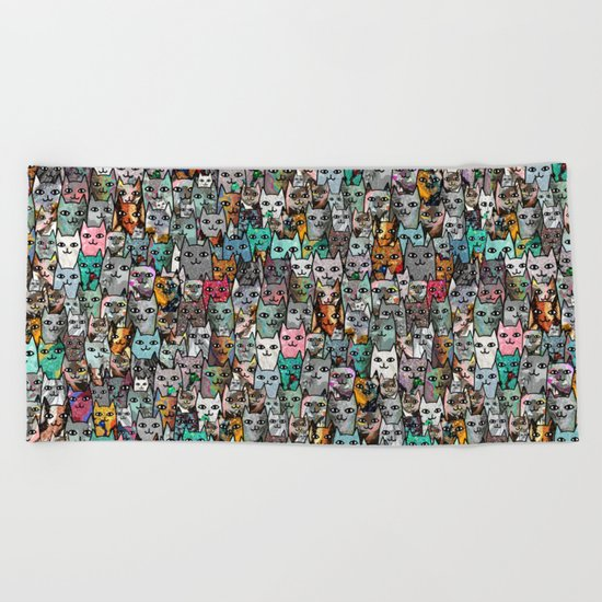 Gemstone Cats Beach Towel