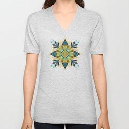 Sprouting Mandala – Teal Unisex V-Neck