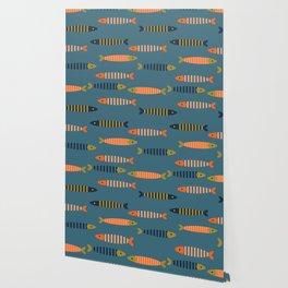 Striped fish - blue Wallpaper