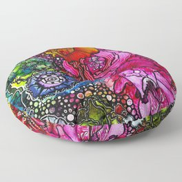 Abstract Floral 2 Floor Pillow
